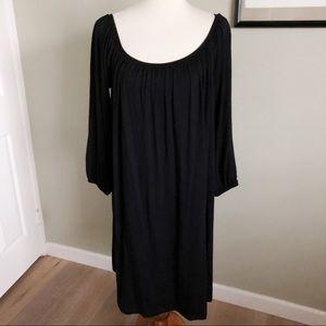 ASOS CURVE • plus size black maxi midi dress sz 14